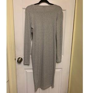 Long/Body Con Gray Dress